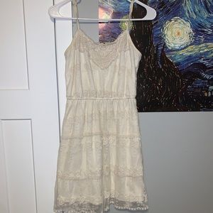 Vintage Lace Cream Dress
